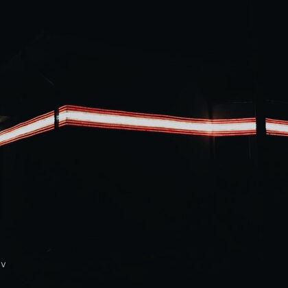 LED Latvian flag
