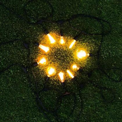 Лампочные гирлянды в стиле ретро
